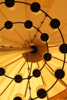 Strathcona Chandelier from below