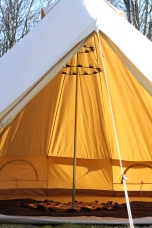 Strathcona Open Empty Tent Floor + Chandelier