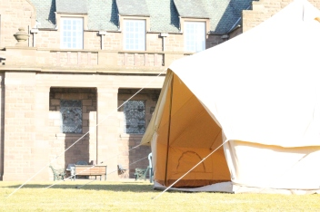 Strathcona Open Empty Tent Hall background
